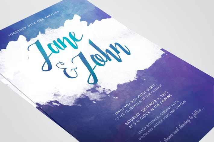 Cover Image For Watercolor Wedding Invitations