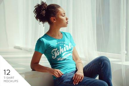 Female T-Shirt Mock-Up v3