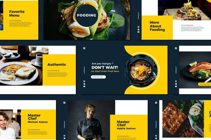 Thumbnail for Fooding - Powerpoint Templates