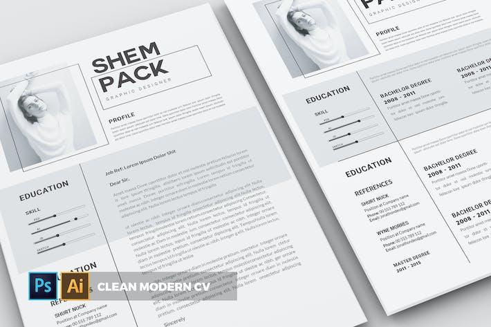 Thumbnail for Clean Modern   CV & Resume