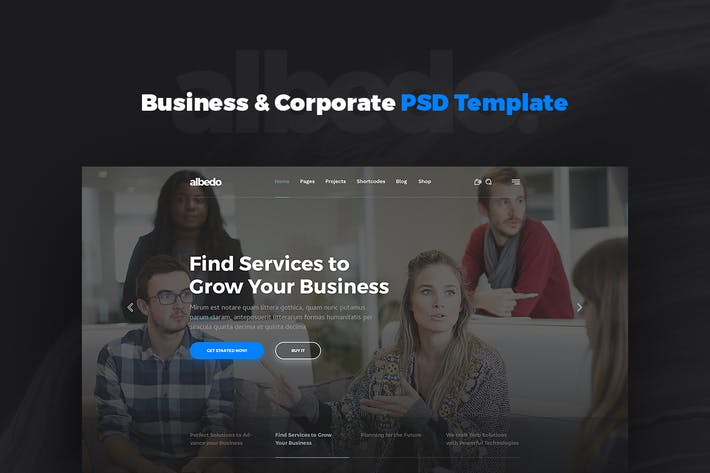 Thumbnail for Albedo – Business & Corporate PSD Template
