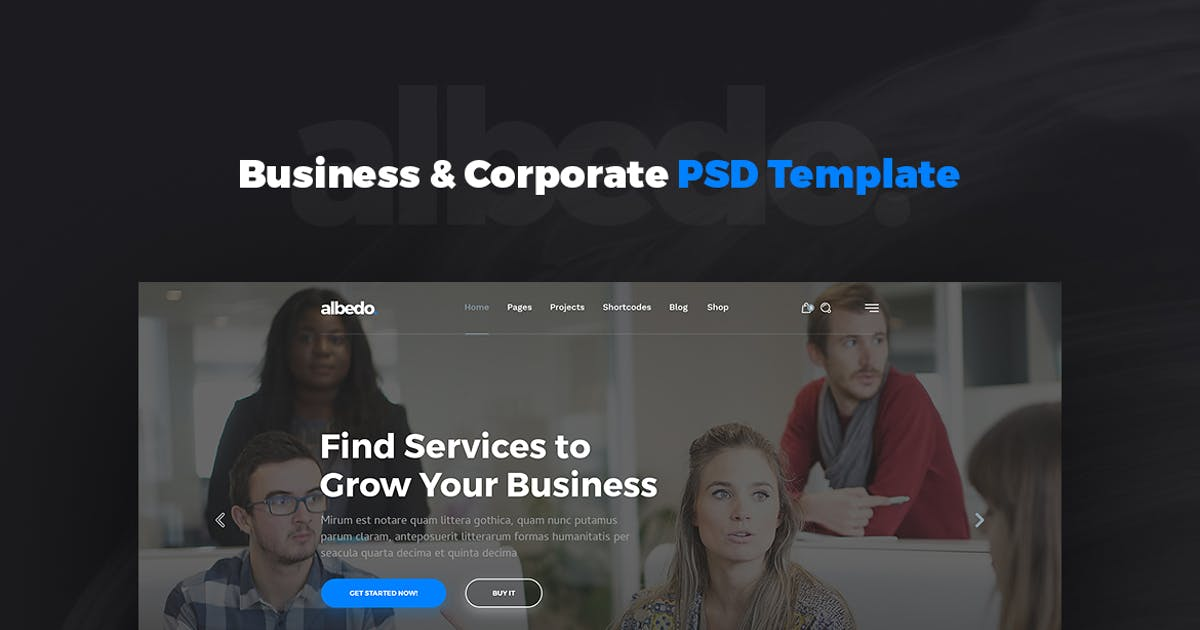 Download Albedo – Business & Corporate PSD Template by Unknow