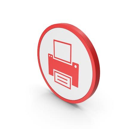Icon Printer Red
