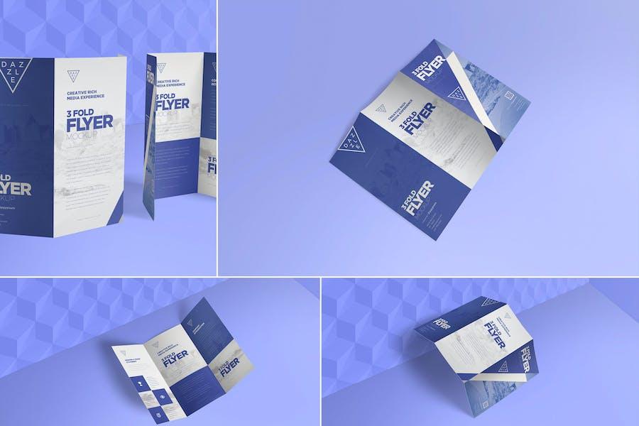 3 Fold Brochure Mockups