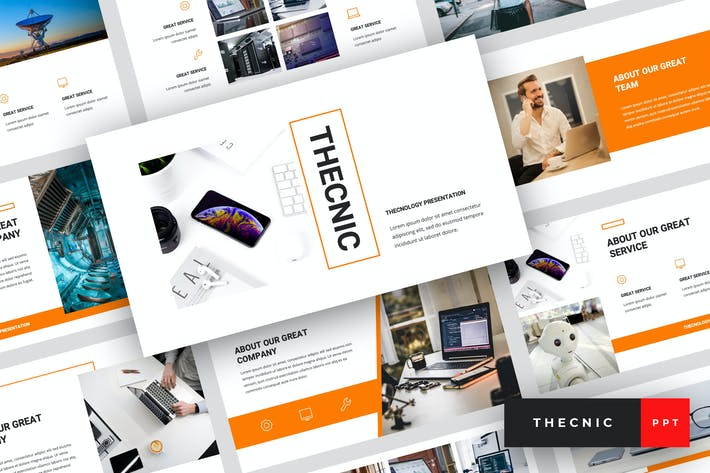Thumbnail for Thecnic - Technology PowerPoint Template