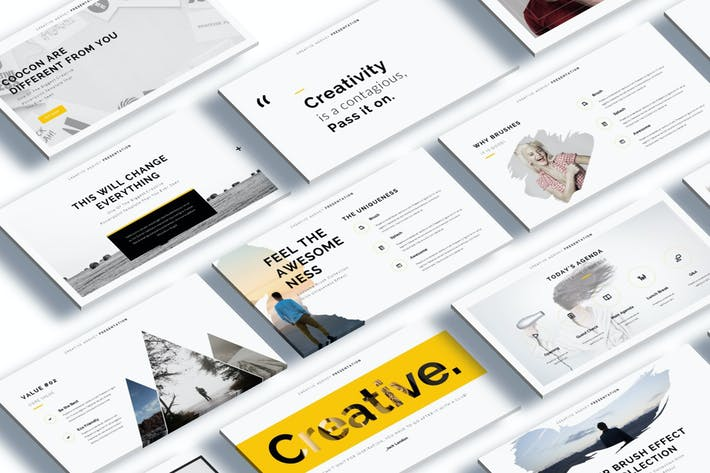 Cocoon - Creative Google Slide Template by giantdesign on Envato ...