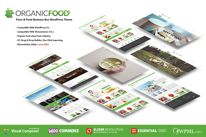 Thumbnail for Organic Food - Farm & Food Business Eco WordPress