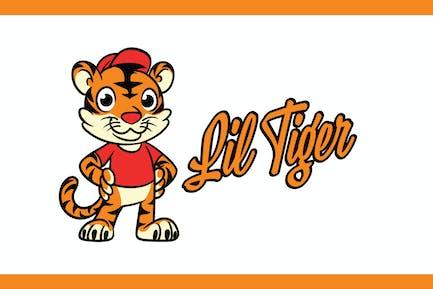 Cartoon Sporty Tiger Mascot Logo
