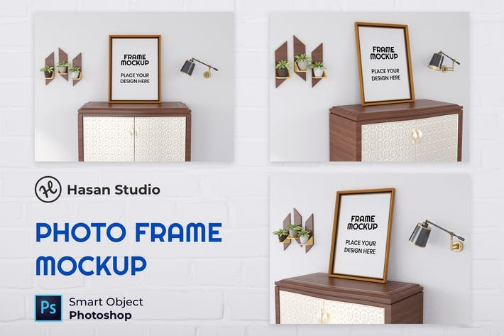 Thumbnail for Blank Photo Frame Mockup - Nuzie