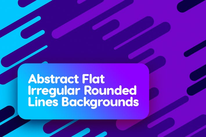 Thumbnail for Flat Irregular Rounded Lines Backgrounds