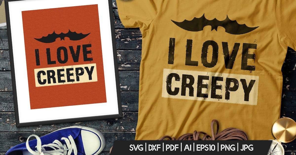 Download Halloween Love Creepy  Print T-Shirt, Retro Badge by JeksonJS