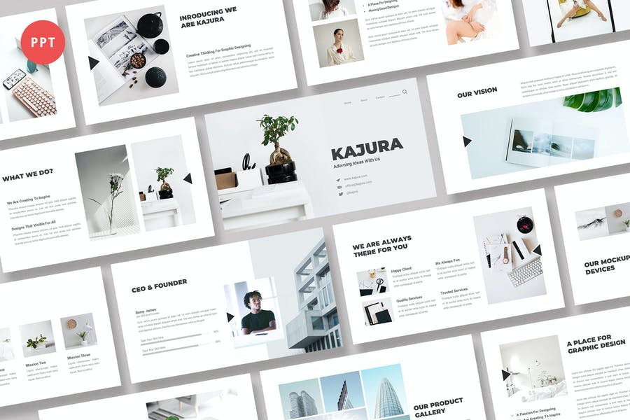 Kajura Творческий бизнес Powerpoint Шаблон