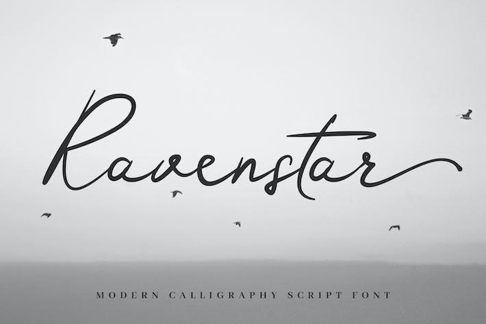 Thumbnail for Ravenstar - Modern Script Font