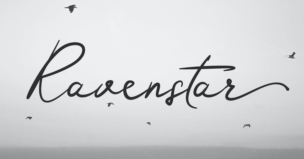 Download Ravenstar - Modern Script Font by andrewtimothy