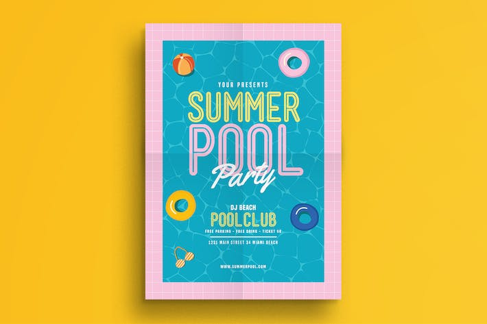 Thumbnail for Summer Pool Party Flyer