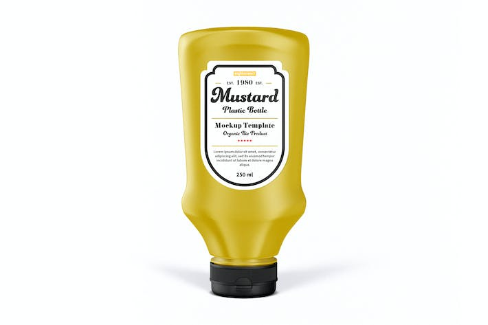 Thumbnail for Mustard Bottle Mock-Up Template