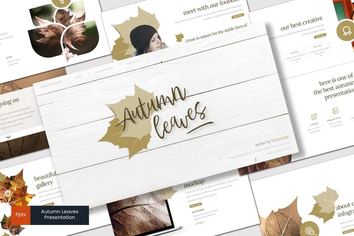 Thumbnail for Autumn leaves - Powerpoint Template