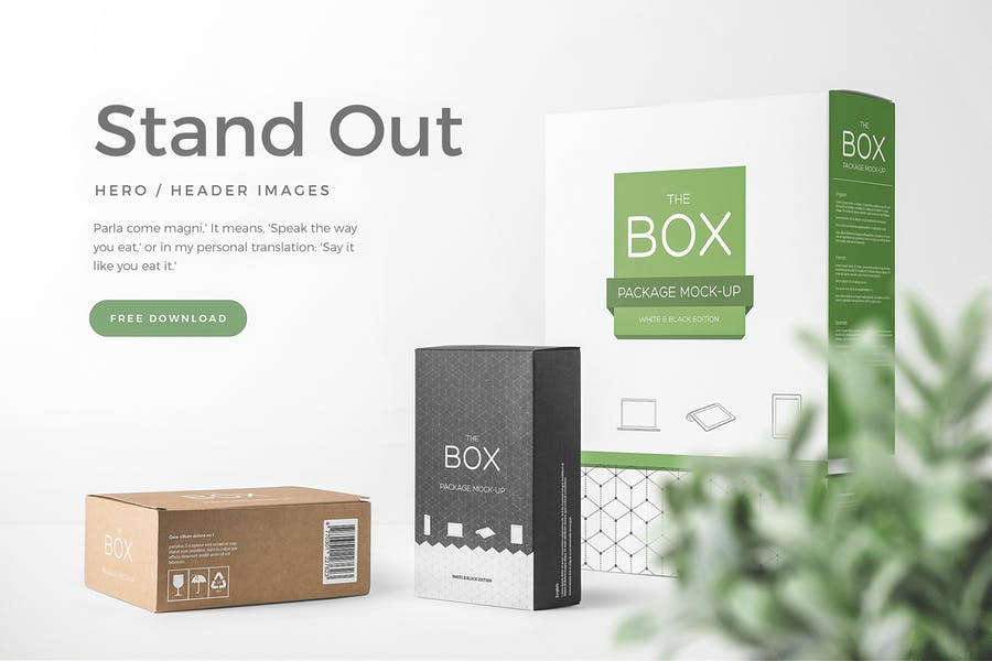 Box Packaging Mockups Vol. 1