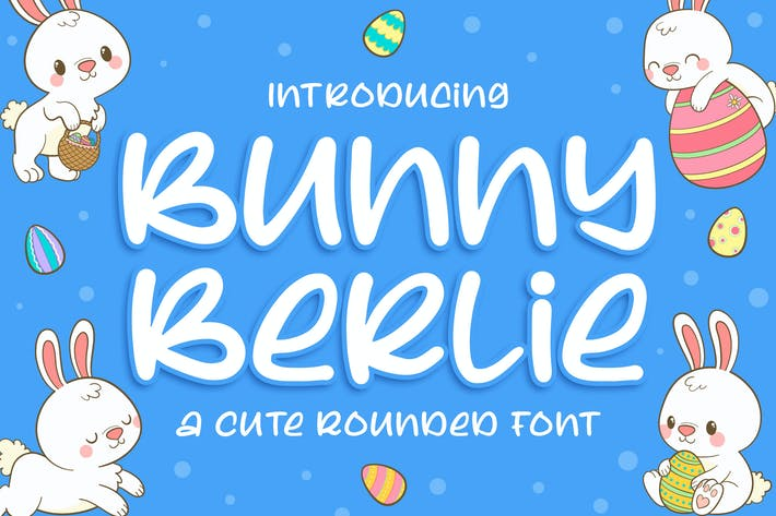 Thumbnail for Bunny Berlie - a Cute Rounded Font
