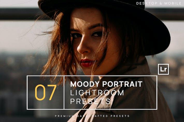 Thumbnail for 7 Moody Portrait Lightroom Presets + Mobile