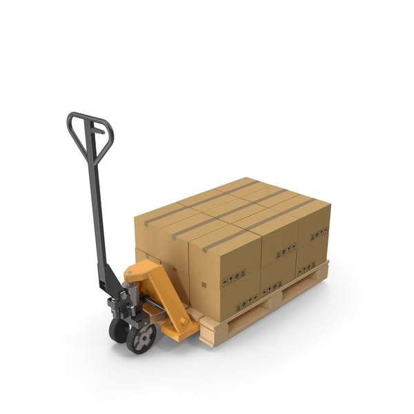 Pallet Jack With Boxes