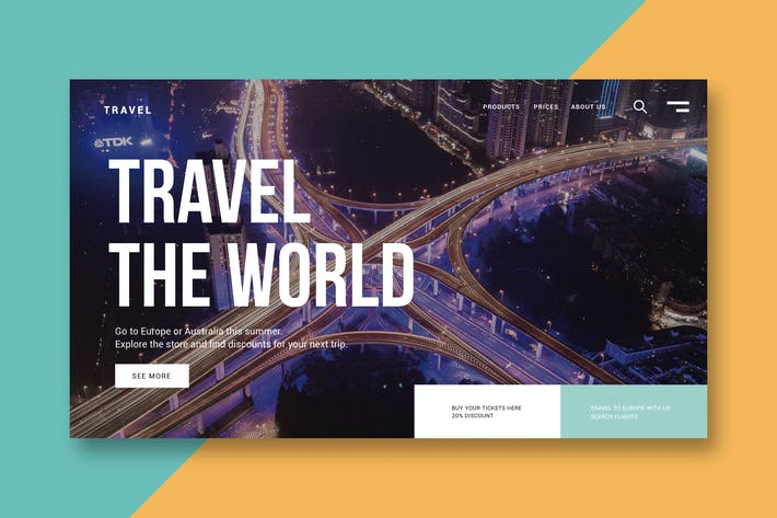 Thumbnail for Travel the World - Landing Page