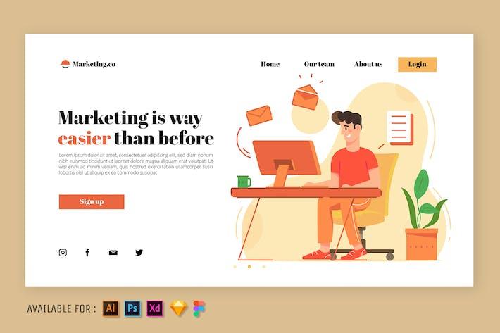 Email Marketing Guy - Web Illustration