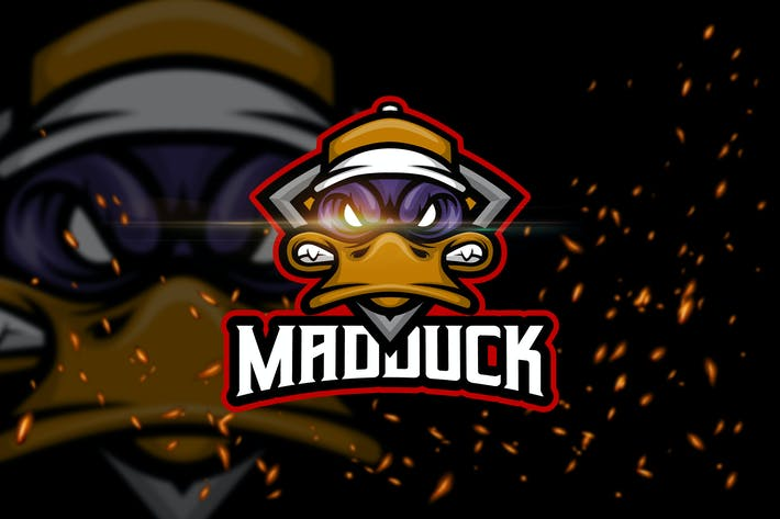 Thumbnail for Mad Duck - Angry Animal eSport Logo Template