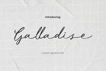 Galladise Classic Signature Font