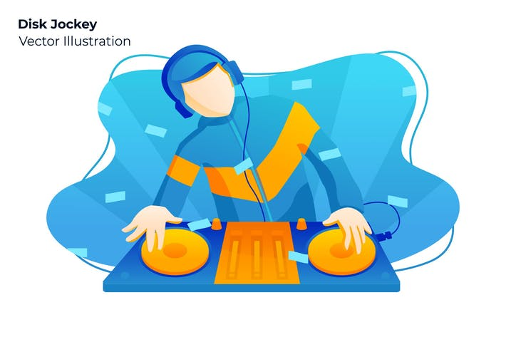 Thumbnail for Disk Jockey - Vector Illustration