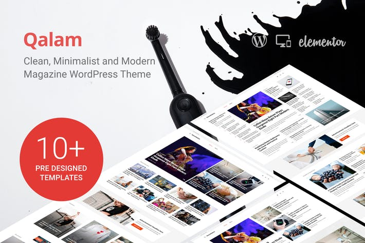 Thumbnail for Qalam - NewsPaper and Magazine WordPress Theme