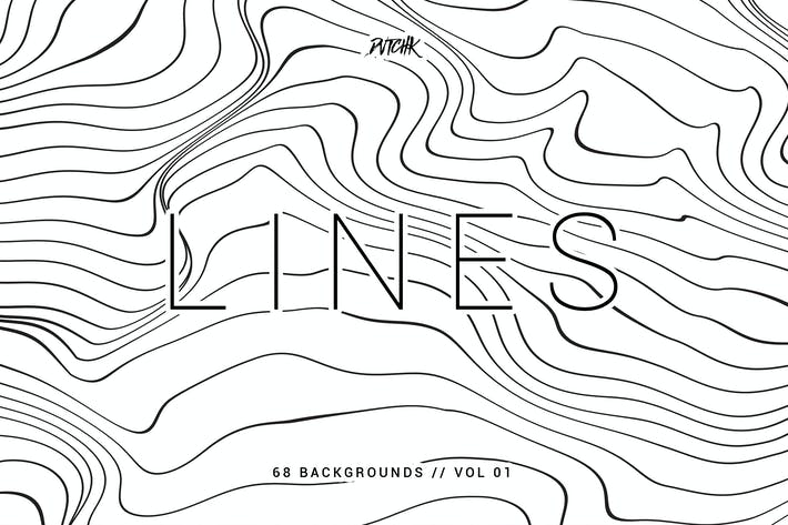 Thumbnail for Lines | Abstract Wavy Backgrounds | Vol. 01