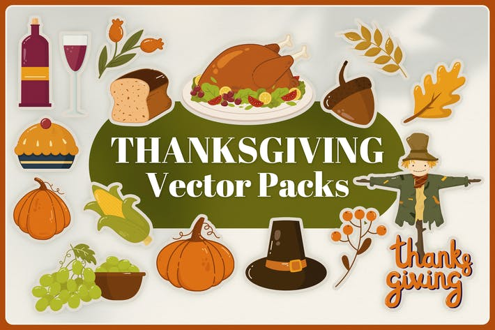 Thumbnail for Thanksgiving Vector Pack