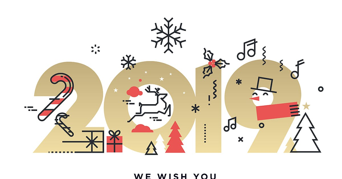 Download Merry Christmas and Happy New Year 2019 by PureSolution