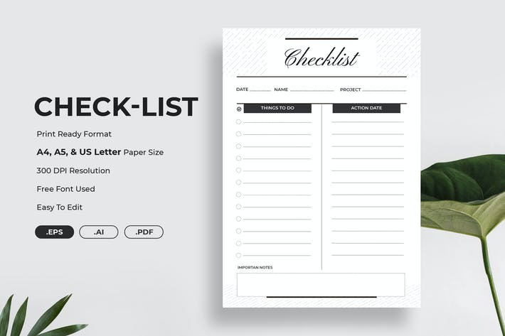 Thumbnail for Minimal Check-List Planner