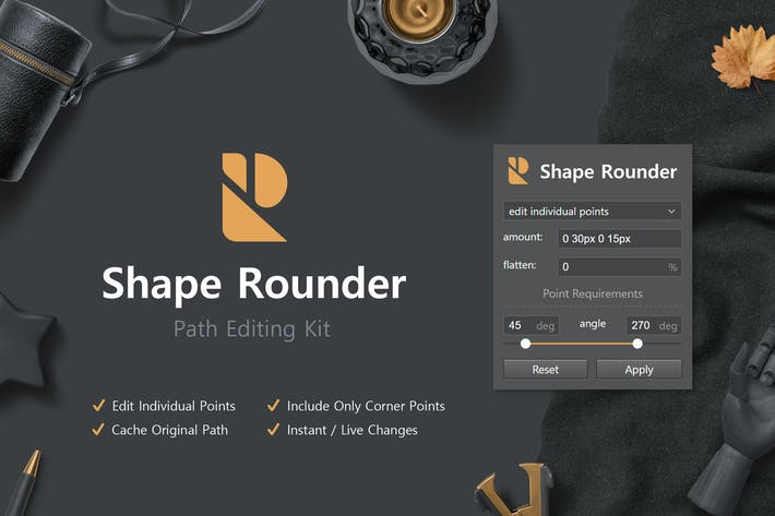 Thumbnail for Shape Rounder - Path Editing Kit