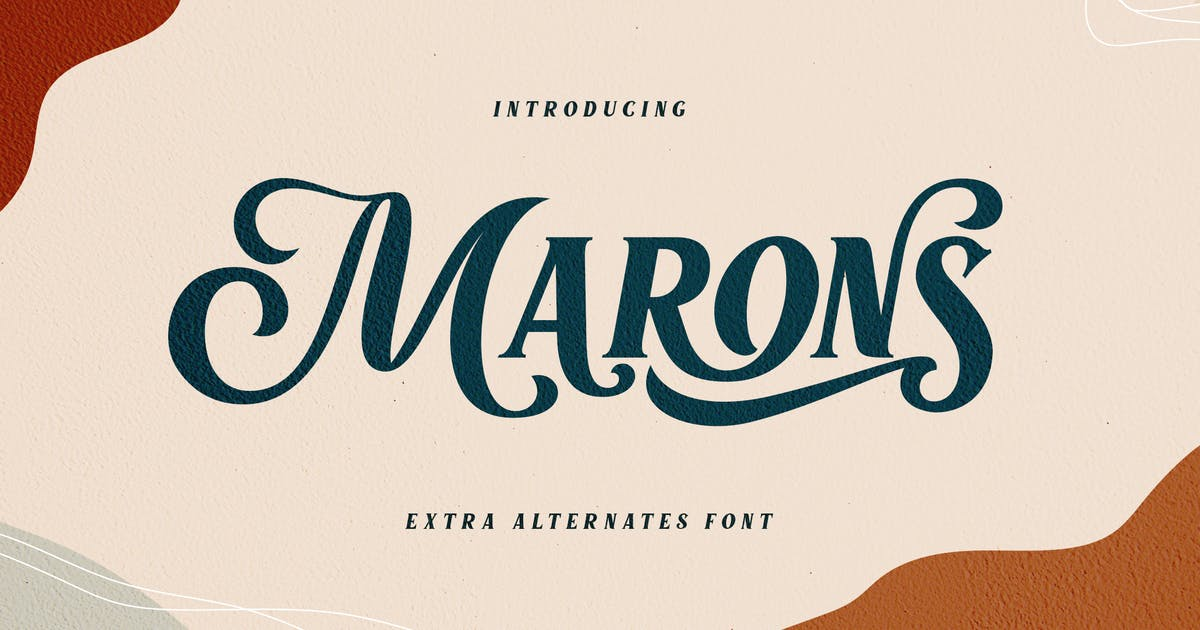Download Marons Font by alit_design