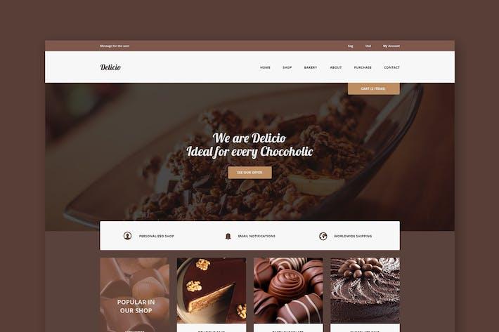 Thumbnail for Delicio - Schokolade PSD Vorlage