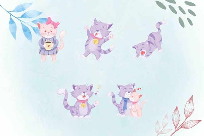 Thumbnail for Причудливые иллюстрации животных CAT