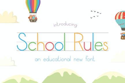 School Rules Font