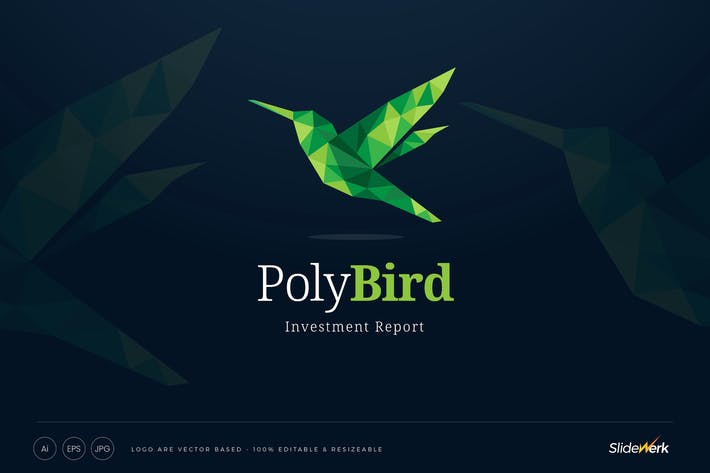Thumbnail for Green Low Poly Shape Bird Logo Template