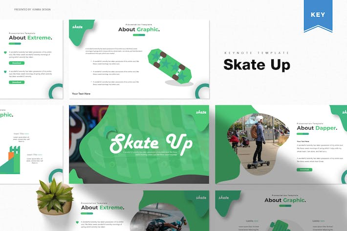 Thumbnail for Skate Up | Keynote Template