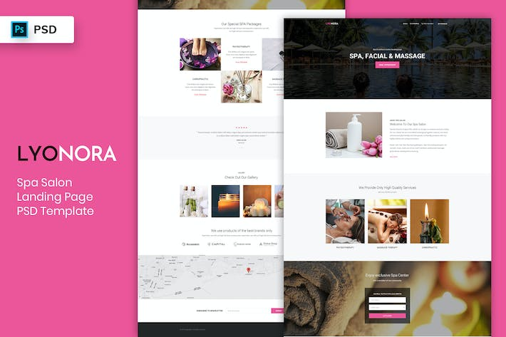 Thumbnail for Spa & Salon - Landing Page PSD Template
