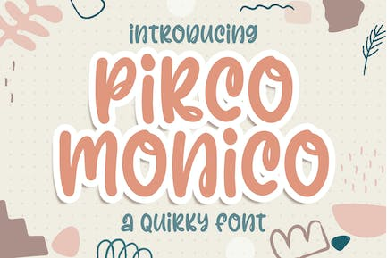 Pirco Monico Quirky and Playful Business Font