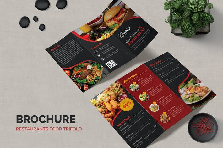 Restaurants Food Trifold Brochure