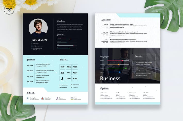 Thumbnail for Creative Business CV Template