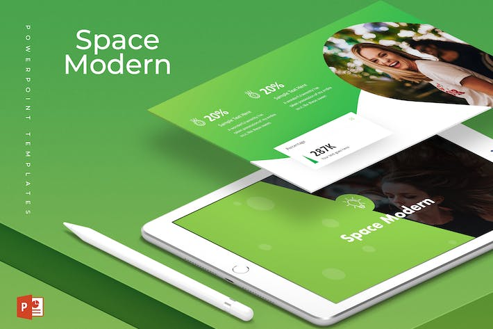 space modern powerpoint template by aqrstudio on envato elements