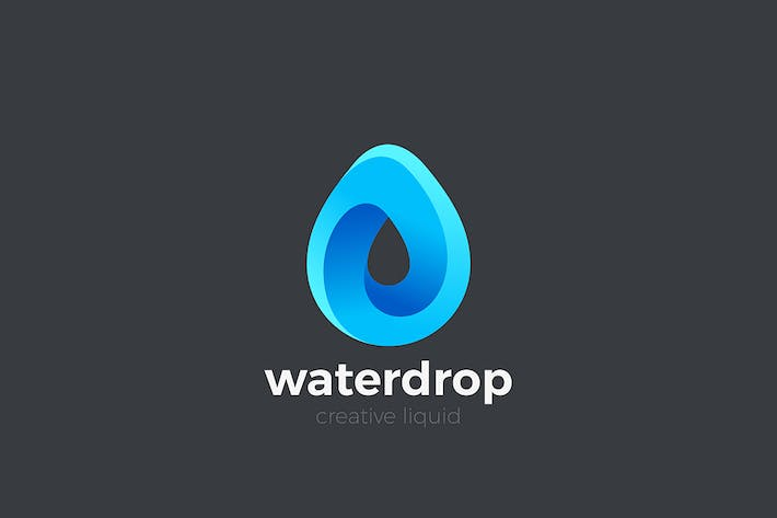 Thumbnail for Water Droplet Logo Drop Infinity Looped shape