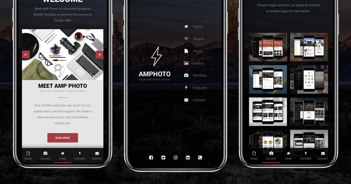 Download AMP Photo Mobile   Google AMP Mobile News Template by Enabled