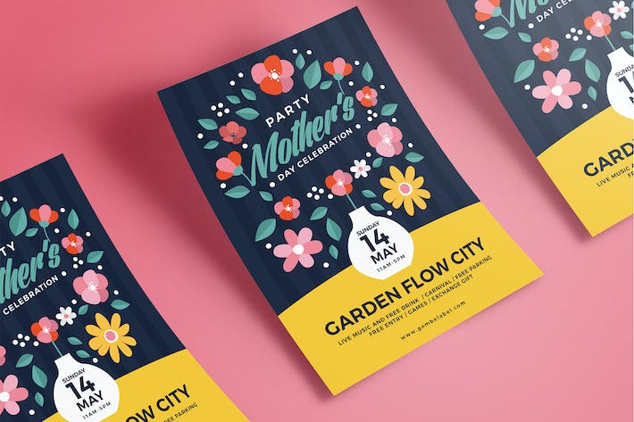 Cover Image For Flower Mother's Day Flyer